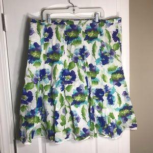 Dress Barn Womens Floral Skirt Plus Size 20